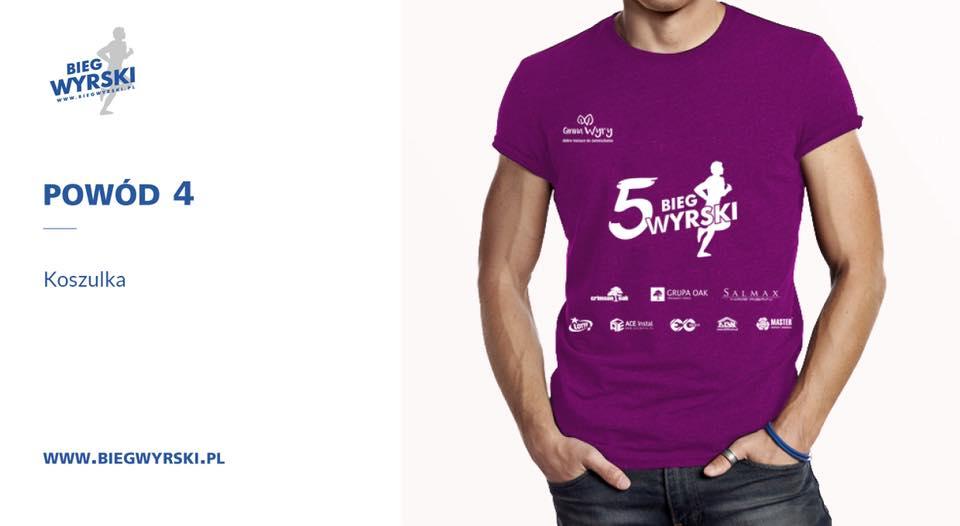 Przed Wami oficjalna koszulka V edycji Biegu Wyrskiego!
